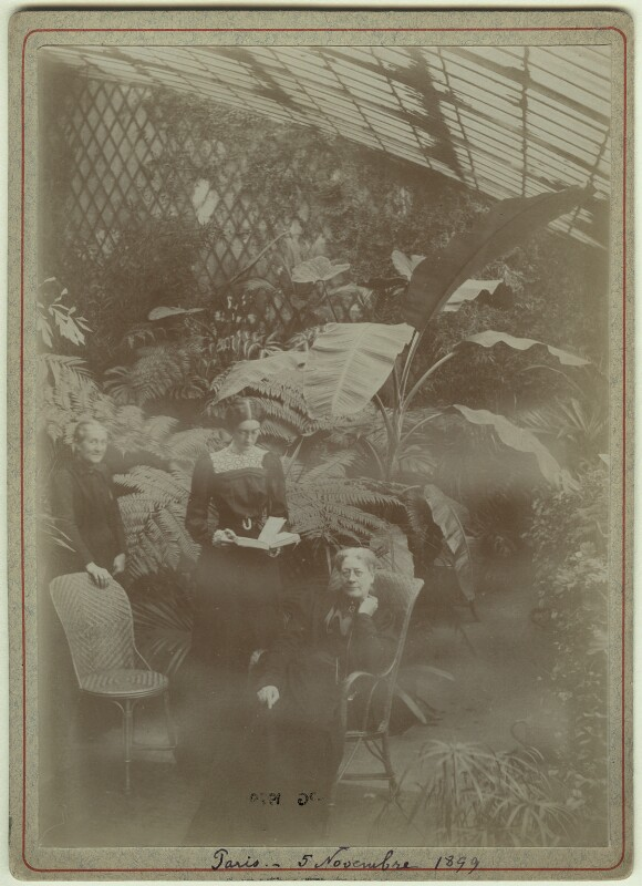 Marie Claire Souvestre; (Joan) Pernel Strachey; Jane Maria (née Grant), Lady Strachey, by Unknown photographer, 5 November 1899 - NPG x13128 - © National Portrait Gallery, London