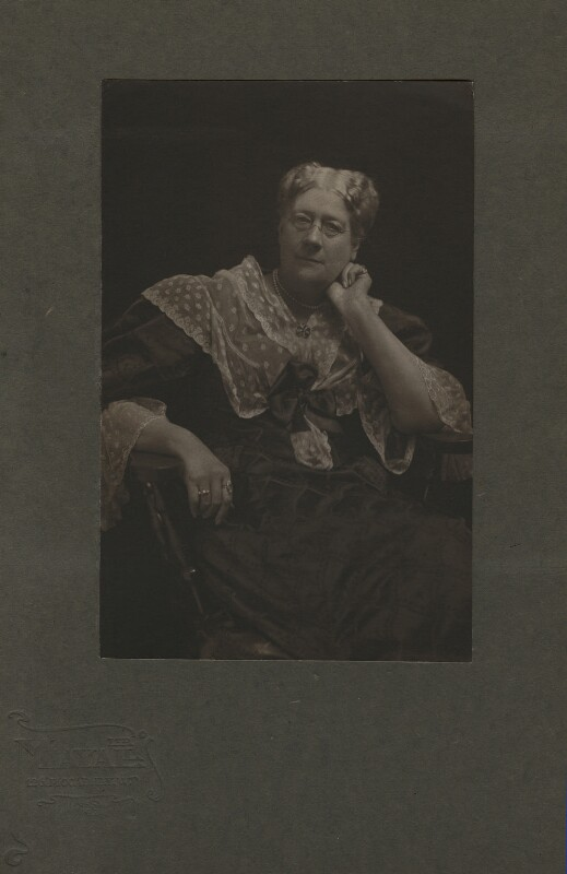 Jane Maria (née Grant), Lady Strachey, by Mayall & Co, 1890s - NPG x13058 - © National Portrait Gallery, London