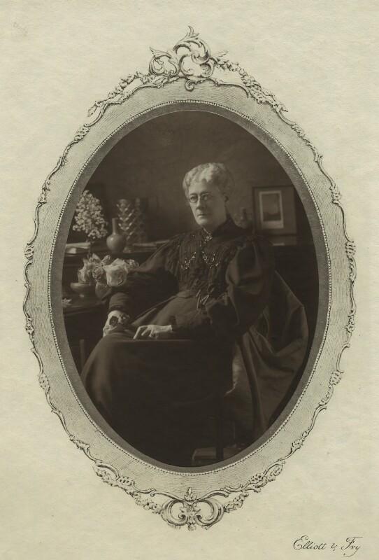 Jane Maria (née Grant), Lady Strachey, by Elliott & Fry, 1890s - NPG x13055 - © National Portrait Gallery, London