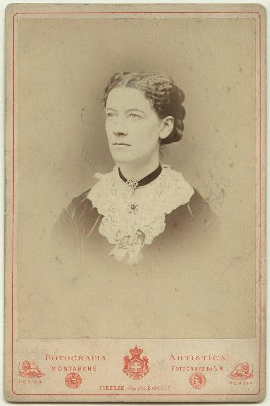 Jane Maria (née Grant), Lady Strachey, by Luigi Montabone, circa 1870 - NPG x38530 - © National Portrait Gallery, London