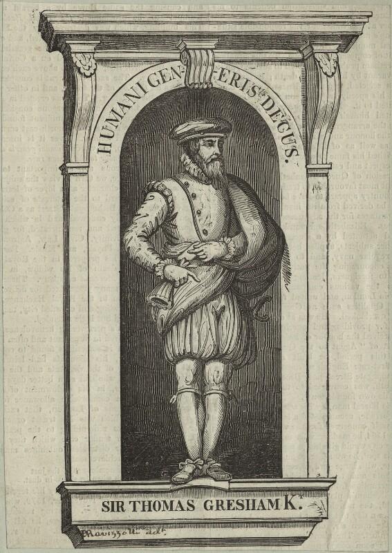 Sir Thomas Gresham, possibly by B. Ravizzolli, possibly 18th century - NPG D25434 - © National Portrait Gallery, London