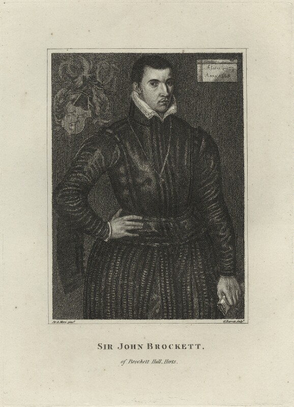 Sir John Brockett, by G. Barrett, after  Anthonis Mor (Antonio Moro), late 18th century - NPG D25439 - © National Portrait Gallery, London