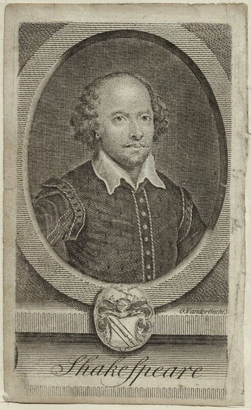 William Shakespeare, by Gerard Vandergucht, probably mid 18th century - NPG D25485 - © National Portrait Gallery, London