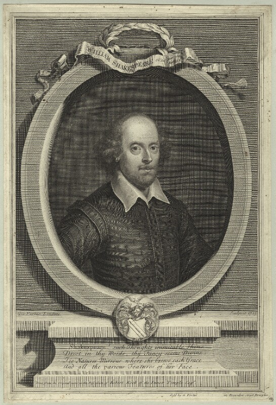 William Shakespeare, by and sold by George Vertue, 1719 - NPG D25488 - © National Portrait Gallery, London