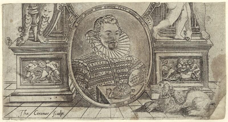Sir John Harington, by Thomas Cockson (Coxon), 1591 - NPG D25492 - © National Portrait Gallery, London
