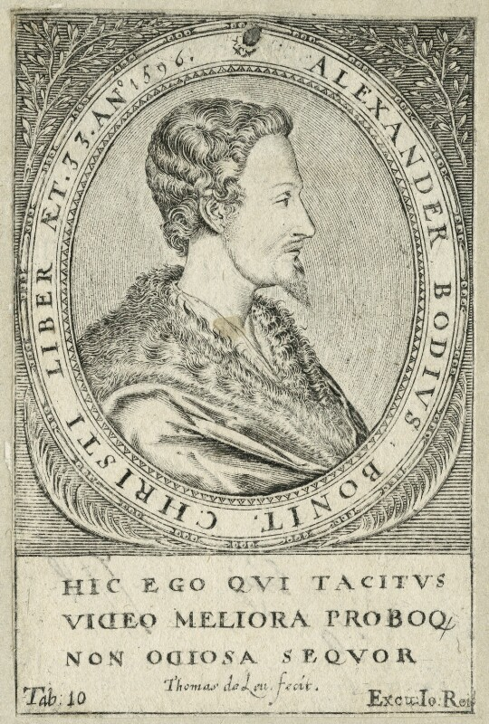 Mark Alexander Boyd, by Thomas de Leu, 17th century - NPG D25528 - © National Portrait Gallery, London