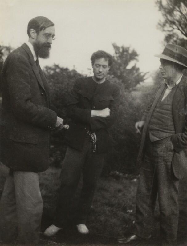 Lytton Strachey; Duncan Grant; (Arthur) Clive Bell, by Vanessa Bell, 1922 - NPG x26568 - © estate of Vanessa Bell courtesy of Henrietta Garnett