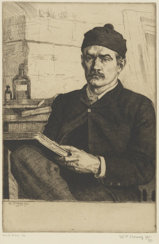 William Strang, by William Strang, printed by  David Strang, 1890-1891 - NPG D31918 - © National Portrait Gallery, London