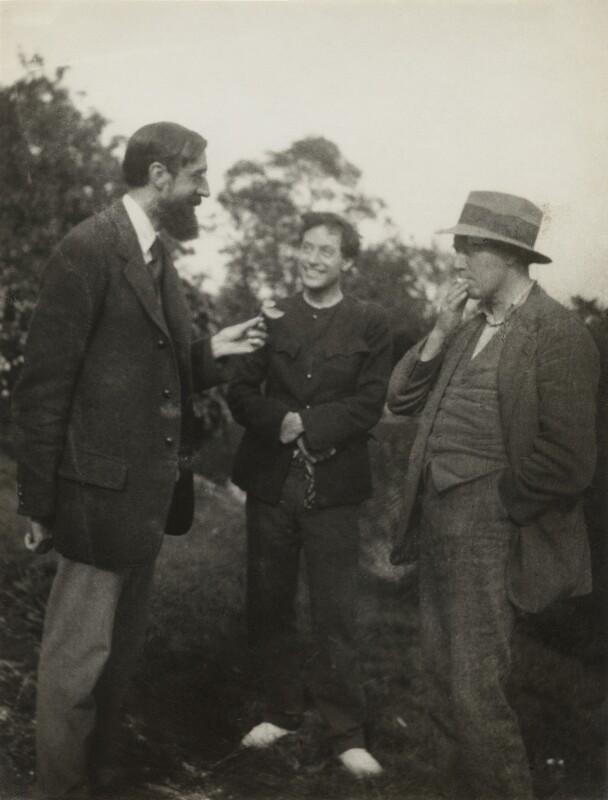 Lytton Strachey; Duncan Grant; (Arthur) Clive Bell, by Vanessa Bell (née Stephen), 1922 - NPG x21199 - © estate of Vanessa Bell courtesy of Henrietta Garnett