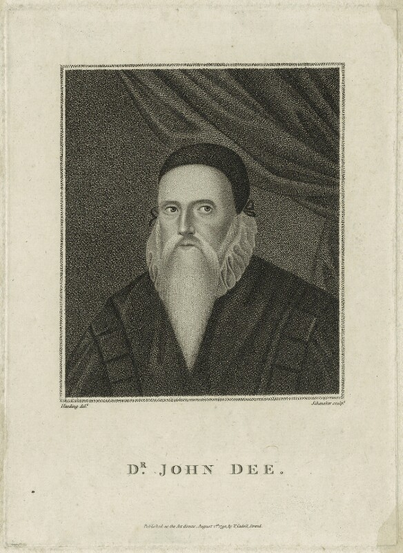 John Dee, by Schenecker, published by  Thomas Cadell the Elder, published 1792 - NPG D25550 - © National Portrait Gallery, London