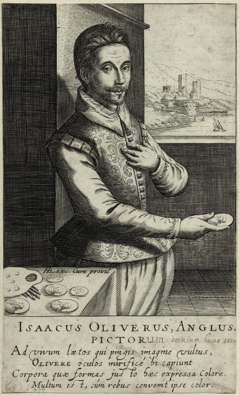 Isaac OIiver, by and published by Hendrik Hondius (Hond), after  Isaac Oliver, circa 1600-1650 - NPG D25560 - © National Portrait Gallery, London