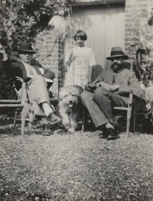 Raymond Mortimer; Angelica Vanessa Garnett (née Bell); the dog Henry; Lytton Strachey, by Vanessa Bell (née Stephen), 1928 - NPG x13898 - © estate of Vanessa Bell courtesy of Henrietta Garnett