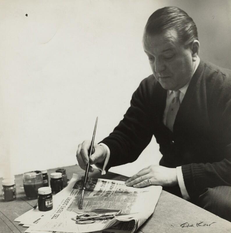 Edouard Léon Théodore Mesens, by Ida Kar, circa 1958 - NPG x129579 - © National Portrait Gallery, London