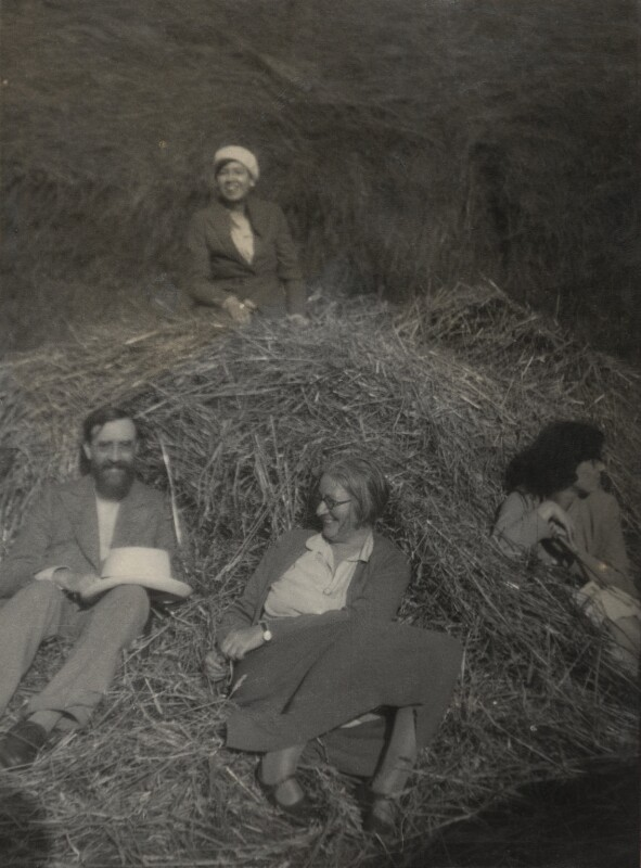 Lytton Strachey; Janie Bussy; Marjorie Strachey, by Unknown photographer, circa 1921 - NPG x13899 - © National Portrait Gallery, London