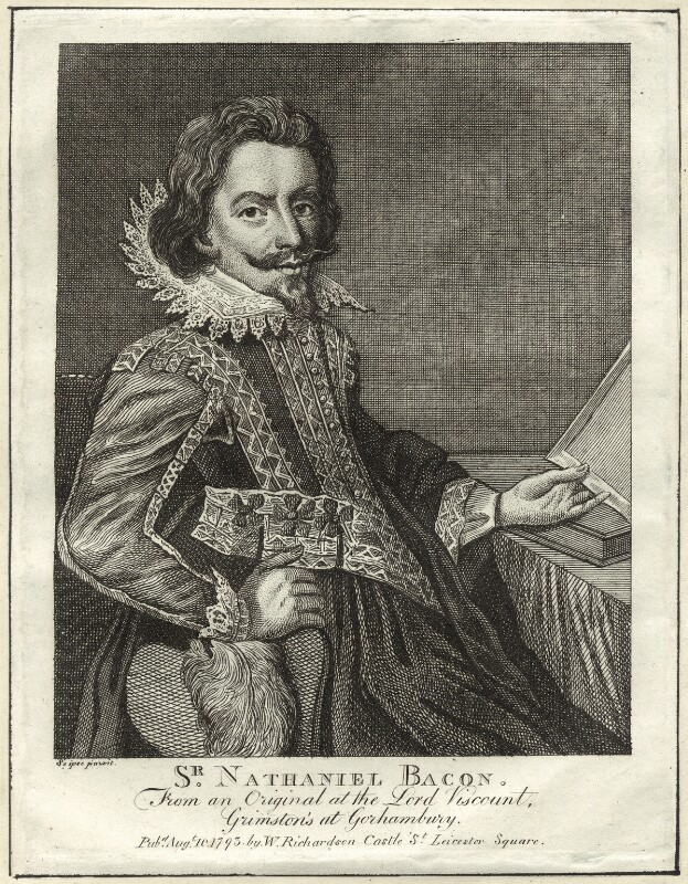 Sir Nathaniel Bacon, published by William Richardson, after  Sir Nathaniel Bacon, published 1793 - NPG D25567 - © National Portrait Gallery, London