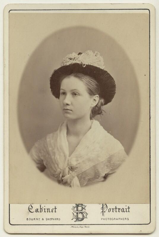 Marjorie Strachey, by Bourne & Shepherd, circa 1870 - NPG x38564 - © National Portrait Gallery, London