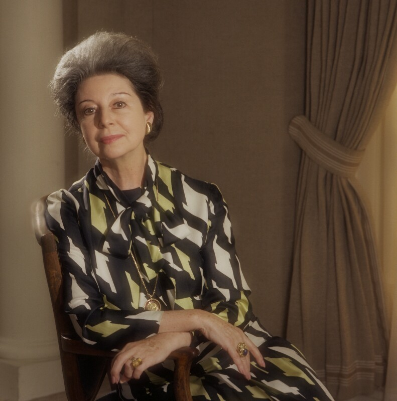 Alicia Markova, by Bern Schwartz, 1 October 1976 - NPG P1203 - © National Portrait Gallery, London