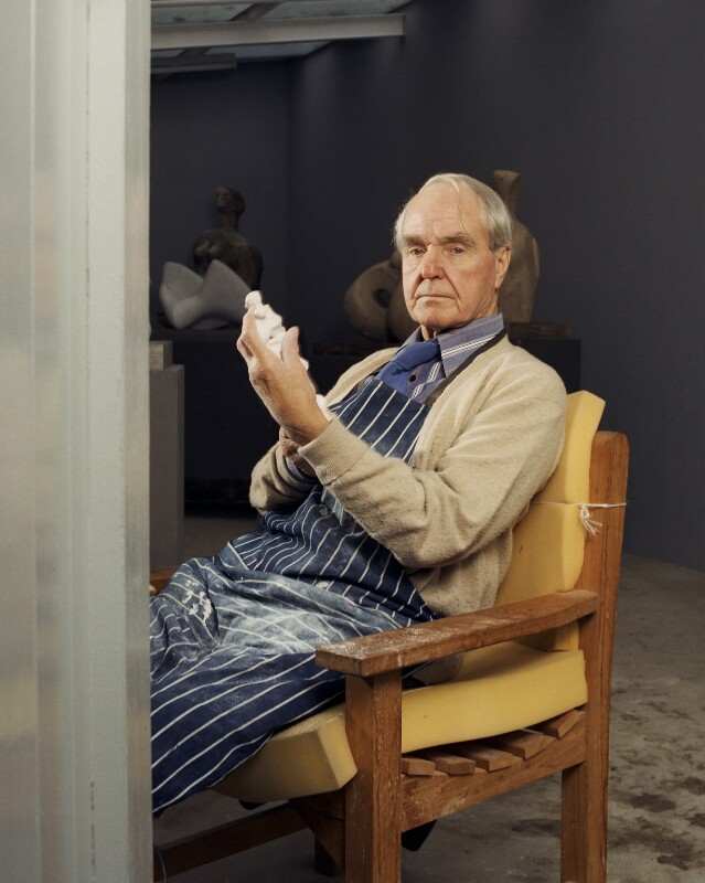 Henry Moore, by Bernard Lee ('Bern') Schwartz, 29 October 1976 - NPG P1210 - © National Portrait Gallery, London
