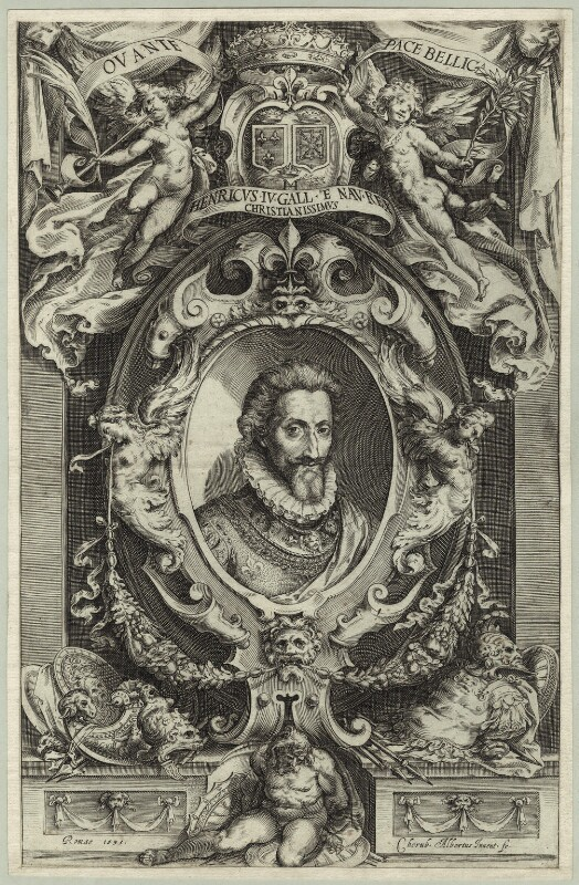 Henri IV, King of France, by Cherub Albertus, 1595 - NPG D25623 - © National Portrait Gallery, London