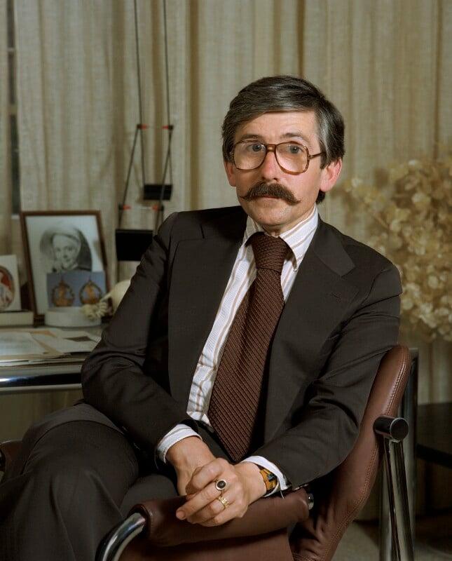 Sir Roy Strong, by Bern Schwartz, 6 June 1978 - NPG P1258 - © National Portrait Gallery, London
