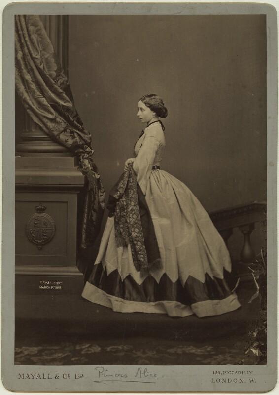 Princess Alice, Grand Duchess of Hesse, by Mayall & Co, after  John Jabez Edwin Mayall, 1890s (February 1861) - NPG x4190 - © National Portrait Gallery, London