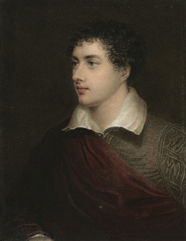 Lord Byron, by Henry Meyer, after  James Holmes, 1818 - NPG D9055 - © National Portrait Gallery, London
