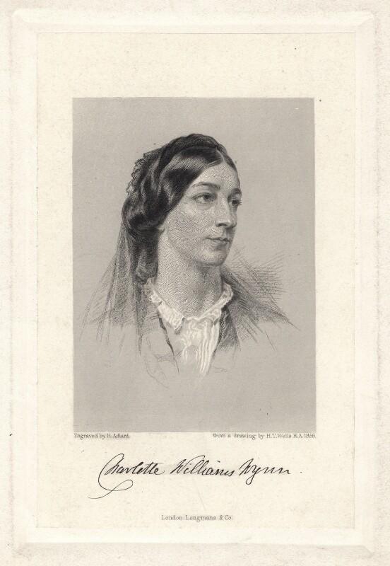 Charlotte Williams-Wynn, by Henry Adlard, after  Henry Tanworth Wells, (1856) - NPG D9049 - © National Portrait Gallery, London