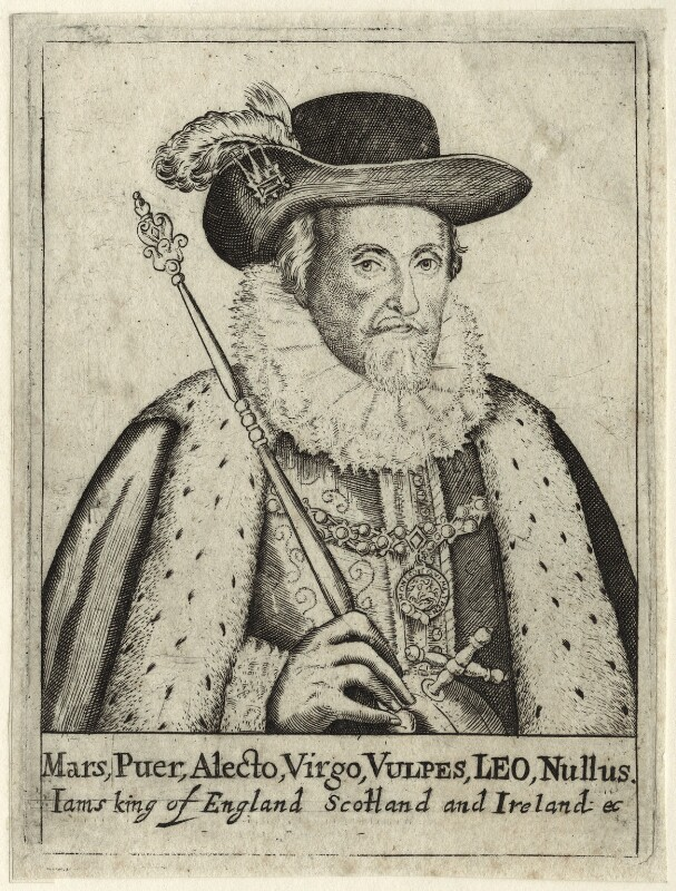 King James I of England and VI of Scotland, after Unknown artist, probably 17th century - NPG D25679 - © National Portrait Gallery, London