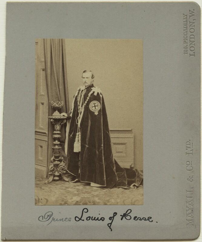 Louis IV, Grand Duke of Hesse and by Rhine, by John Jabez Edwin Mayall, May 1863 - NPG x26123 - © National Portrait Gallery, London