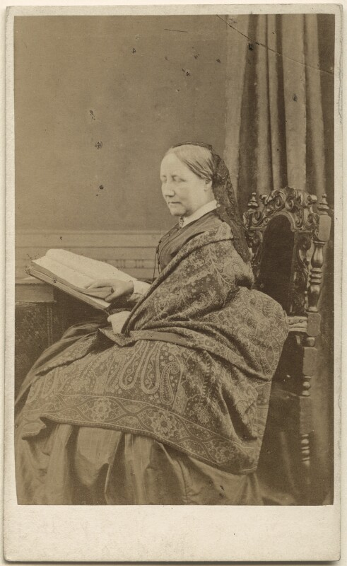 Elizabeth Gaskell, by Alexander McGlashon (McGlashan), 1860-1865 - NPG Ax46282 - © National Portrait Gallery, London