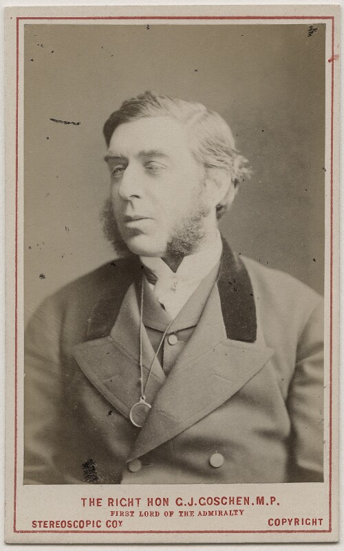 George Joachim Goschen, 1st Viscount Goschen, by London Stereoscopic & Photographic Company, circa 1873 - NPG Ax28456 - © National Portrait Gallery, London