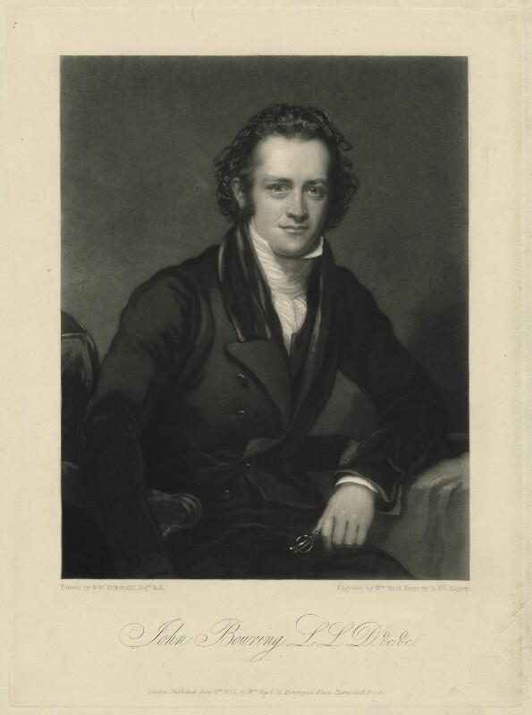 Sir John Bowring, by William Ward, after  Henry William Pickersgill, published 1832 - NPG D32026 - © National Portrait Gallery, London