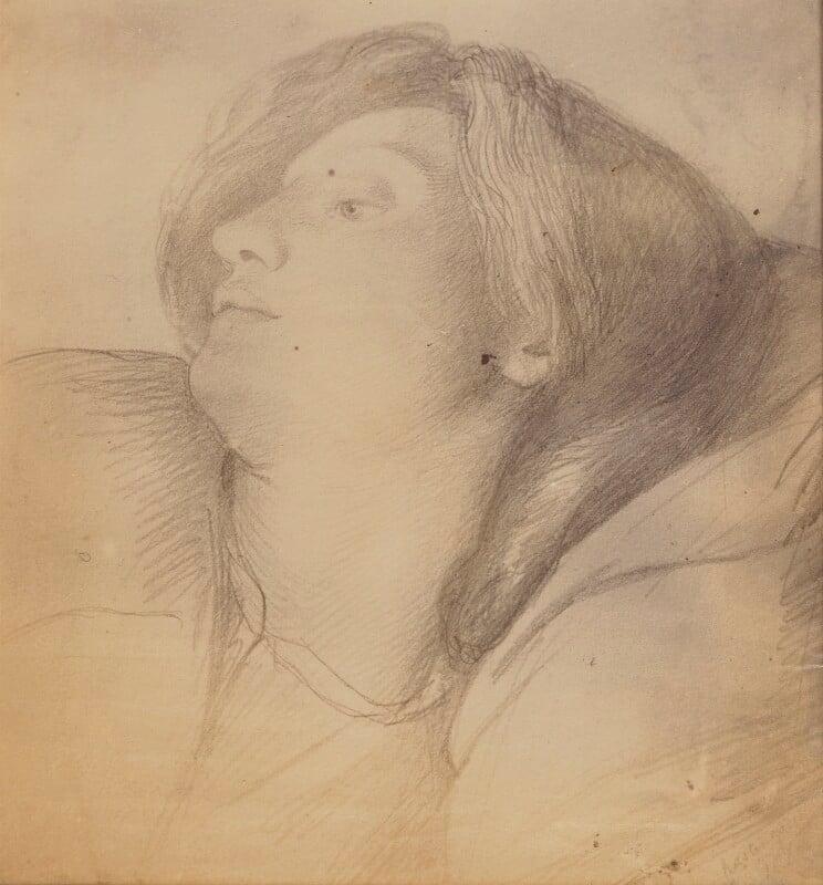 Elizabeth Eleanor Rossetti (née Siddal), by Lewis Carroll, after  Dante Gabriel Rossetti, 8 October 1863, based on a work of circa 1860 - NPG P1273(2b) - © National Portrait Gallery, London