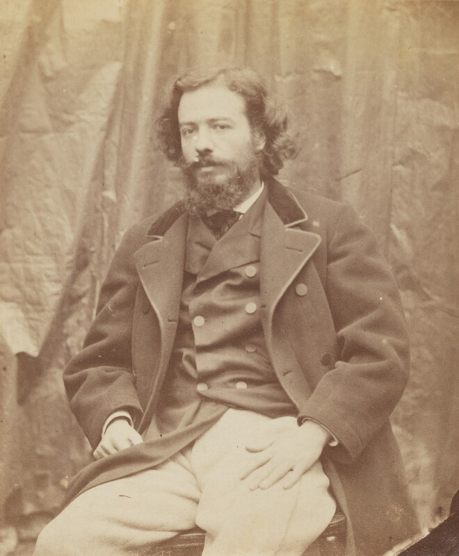 Alphonse Legros, by Lewis Carroll (Charles Lutwidge Dodgson), 6 October 1863 - NPG P1273(20a) - © National Portrait Gallery, London