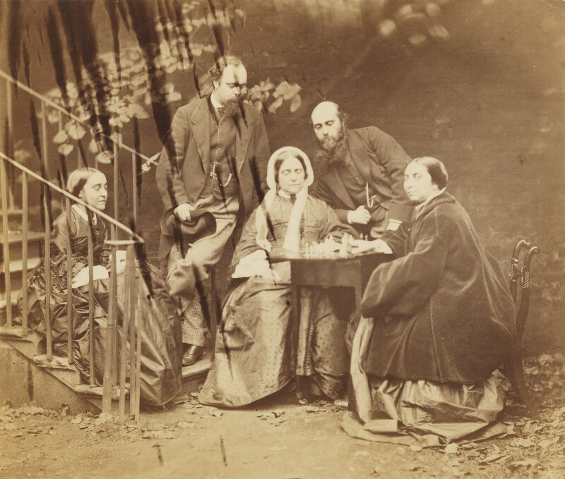 The Rossetti family, by Lewis Carroll (Charles Lutwidge Dodgson), 7 October 1863 - NPG P1273(25b) - © National Portrait Gallery, London