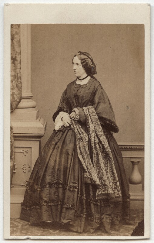 Catherine Gladstone (née Glynne), by Mayall, circa 1860 - NPG x6055 - © National Portrait Gallery, London