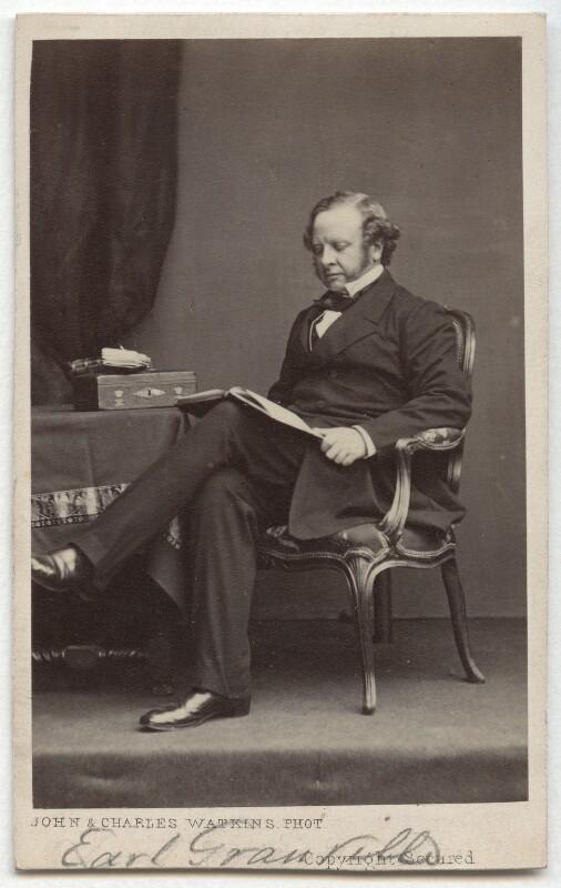 Granville George Leveson-Gower, 2nd Earl Granville, by John & Charles Watkins, early 1860s - NPG x32953 - © National Portrait Gallery, London