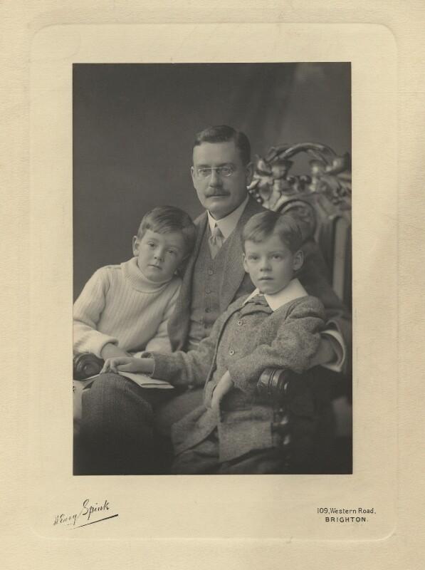 Richard Philip Farquhar Strachey; Ralph Strachey; John Strachey, by Henry Charles Spink, 1910 - NPG x13116 - © National Portrait Gallery, London