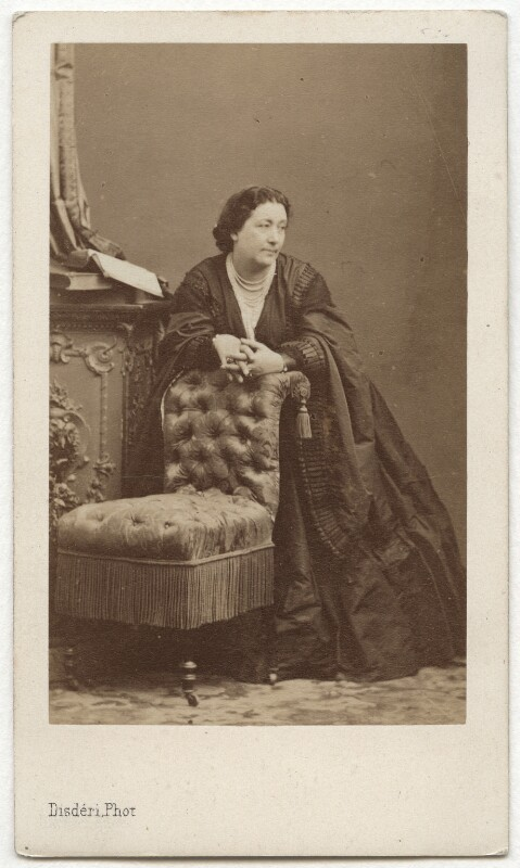 Giulia Grisi, by Disdéri, late 1850s-early 1860s - NPG x19956 - © National Portrait Gallery, London