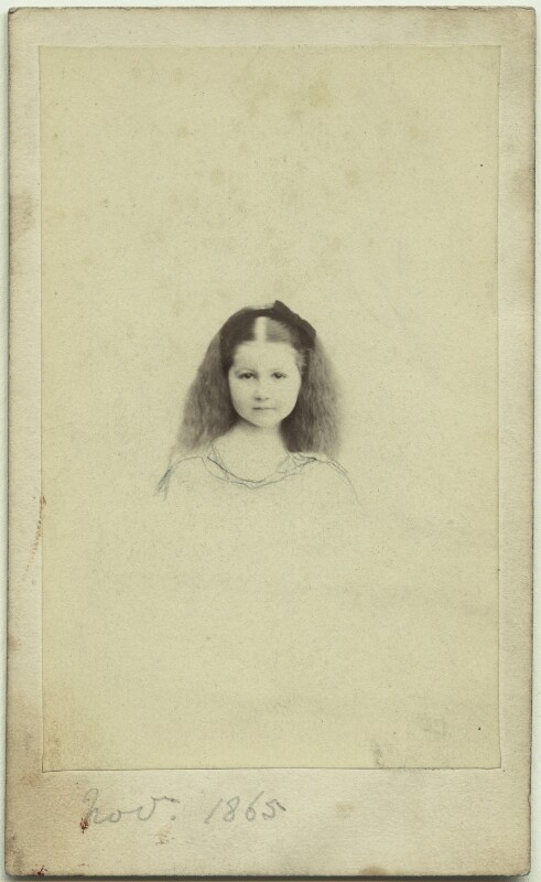 Elinor Rendel (née Strachey), by Henry Lenthall, November 1865 - NPG x13870 - © National Portrait Gallery, London