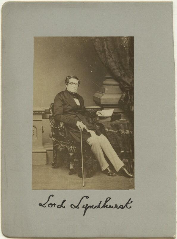 John Singleton Copley, Baron Lyndhurst, by Mayall, 1861 - NPG x20196 - © National Portrait Gallery, London