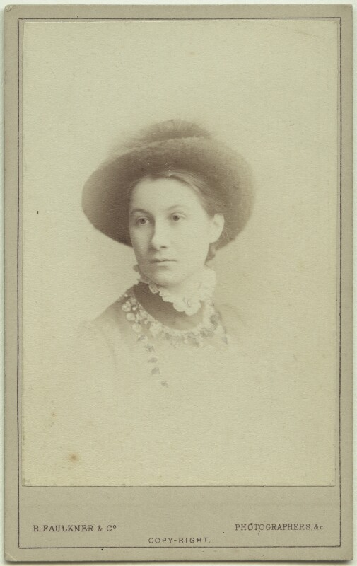 Elinor Rendel (née Strachey), by Robert Faulkner & Co, circa 1879 - NPG x13880 - © National Portrait Gallery, London