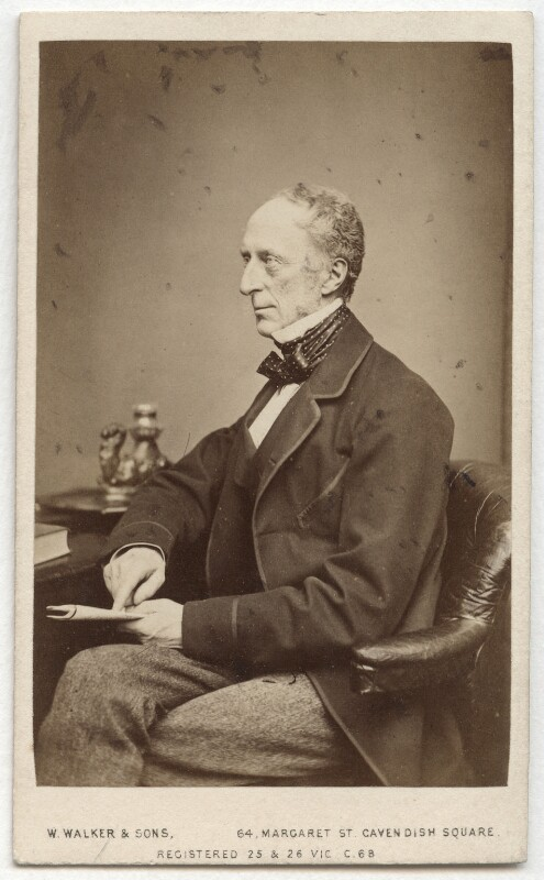 Charles Wood, 1st Viscount Halifax, by William Walker & Sons, 1864 - NPG x13324 - © National Portrait Gallery, London