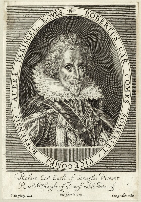 Robert Carr, Earl of Somerset, by Simon de Passe, published by  Compton Holland, circa 1615 - NPG D25789 - © National Portrait Gallery, London