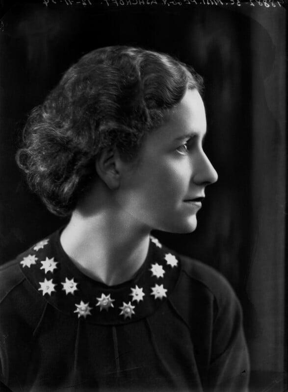 Dame Peggy Ashcroft, by Bassano Ltd, 12 November 1934 - NPG x22296 - © National Portrait Gallery, London