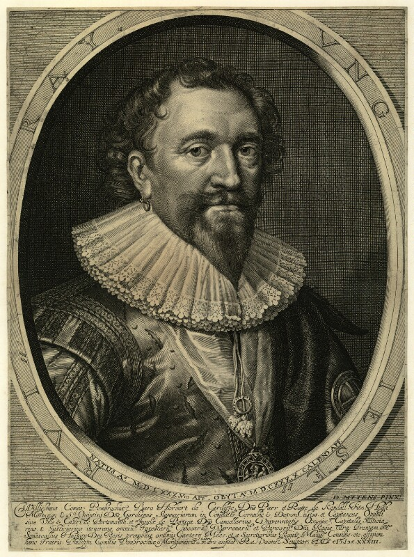 William Herbert, 3rd Earl of Pembroke, by Robert van Voerst, after  Daniel Mytens, early 17th century - NPG D25796 - © National Portrait Gallery, London