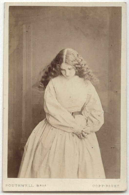 Teresa Elizabeth Furtado (Mrs John Clarke) in 'The Chain of Crime', by Southwell Brothers, circa 1864 - NPG x38414 - © National Portrait Gallery, London