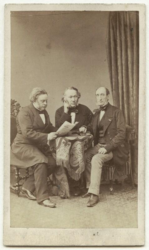 John Bright; Richard Cobden; Michel Chevalier, by Maujean, circa 1860 - NPG x4325 - © National Portrait Gallery, London