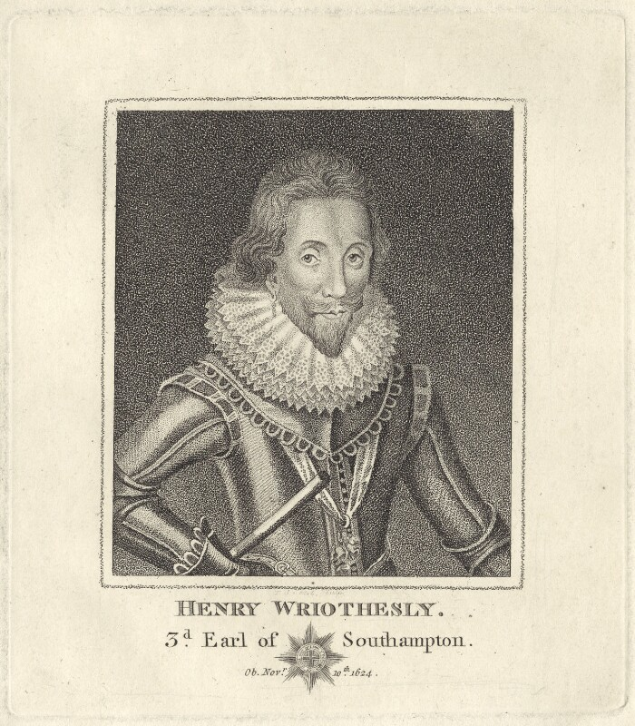 Henry Wriothesley, 3rd Earl of Southampton, after Unknown artist, possibly early 19th century - NPG D25814 - © National Portrait Gallery, London
