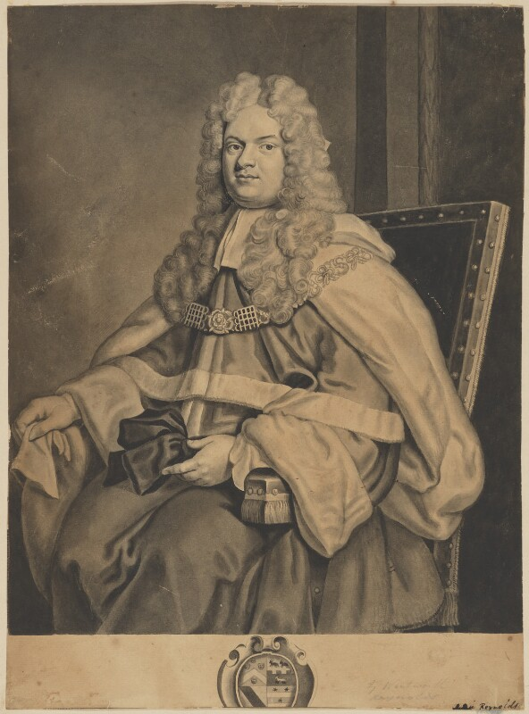 Thomas Parker, 1st Earl of Macclesfield, after George Vertue, after  Sir Godfrey Kneller, Bt, (1712) - NPG D32034 - © National Portrait Gallery, London